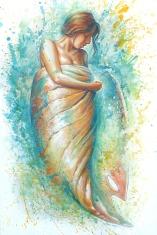 """""""Libérer les eaux qui dorment"""" Anouk Lacasse, artiste peintre et illustratrice www.anouklacasse.ca"""